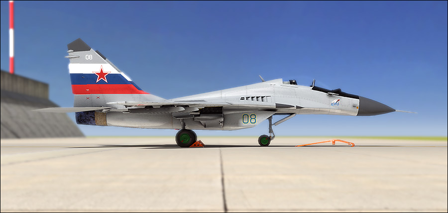 Mig 29 3D image rendered